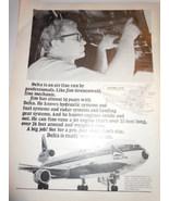 Vintage Delta Airline Jim The Mechanic Print Magazine Advertisement 1973 - $9.99
