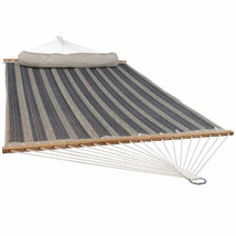 Sunnydaze 2-Person Quilted Spreader Bar Hammock Bed w/ Pillow - Mountain... - $87.94