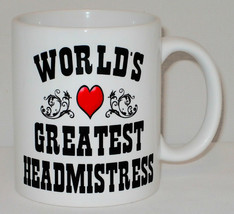 World's Greatest Headmistress Mug Can Personalise Great School Head Prin... - $9.23