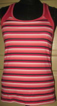 CHAMPION Pink Stripe Racer Back Sleeveless Fitness Top Tank M - $8.00