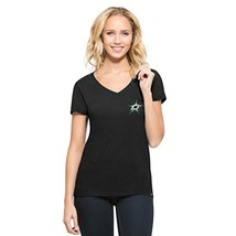 '47 NHL Dallas Stars Women's Clutch MVP V-Neck Tee, Jet Black, Large