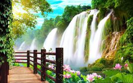 3D berühmten Wasserfall 98 Fototapeten Wandbild Fototapete BildTapete Familie DE - $52.82+