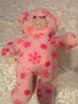 Christmas Build A Bear winter snowflakes plush bear  plush pink 18 inch - $12.99