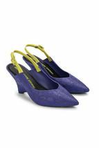 NEW IN BOX Melissa x Opening Ceremony Punto Slingback Wedge Heel Sandal Purple 5 - $78.21
