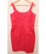 Calvin Klein  Women's Sheath Pleated Bust Detailing Dress Size 12 Coral ... - $39.57