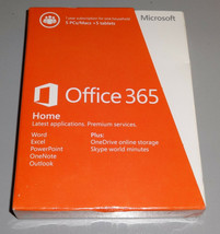 Microsoft Office Home Premium 365 1 Year 5 PC's/Macs + Tablets NEW 6GQ-00024 - $79.20
