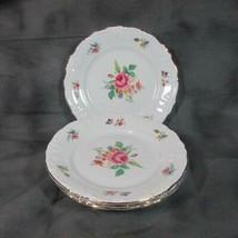 """4 Vintage Winterling Bavaria 6"""" Desert Plates, Meissen Gardens (?), 48, ... - $13.09"""