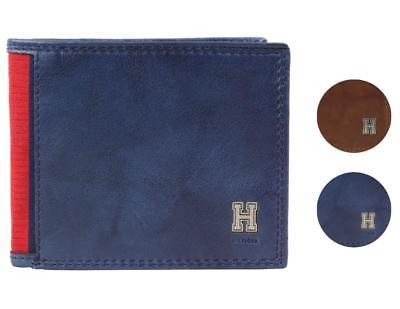 Tommy Hilfiger Men's Leather Credit Card Id Traveler Rfid Wallet 31TL220004
