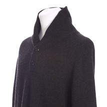 J Crew 100% Lambswool Cowl Neck Half Button Pullover Sweater Mens Large ... - $34.55