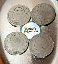 Liberty Head Nickel Five-Cent V Pieces 1889, 1900, 1901 and 1902 AA20-CNN2151 An image 8