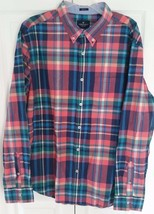 American Eagle Outfitters Long Sleeve Button Front Shirt Prep Fit Plaid ... - $17.83