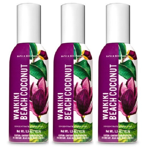 Primary image for Bath & Body Works Waikiki Beach Coconut Concentrated Room Spray 3 Pack
