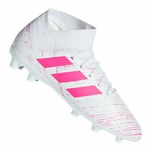 Adidas CM8506 Girls Nemeziz 18.3 Firm Ground Cleats White / Pink ( 13K ) - $76.33