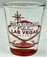 """Welcome To Fabulous Las Vegas Nevada Sign 2.25"""" Collectible Shot Glass - $8.50"""