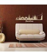 Wall Vinyl Sticker Bedroom Decal Words Sign Barcelona Town City Skyline - $63.00