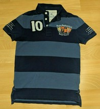 Rugby by Ralph Lauren Polo Shirt Large Crest Shield Size XS VTG 90s Hip-... - $69.29