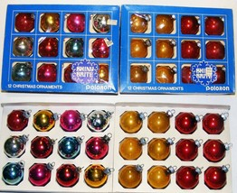 SHINY BRITE - 2 Boxes Vintage Glass Christmas Ornaments - Solids - $14.99