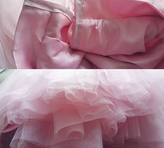 MAUVE A-line High Waist 4 layer Tutu Skirt Knee Length Midi Skirt NWT image 5