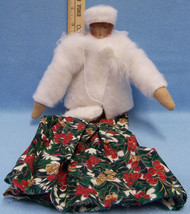 Primitive Doll Victorian Christmas Holiday Decor Cloth Fabric 17 Inch - $12.22