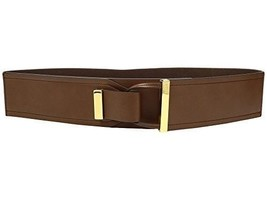 RALPH LAUREN Metal Tip Tab Front Stretch Womens BELT Tan Small $48 - NWT - $9.99