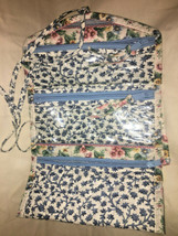 Vera Bradley retired Jewelry Roll in Blue Delft  Excellent Pre Owned Con... - $19.59