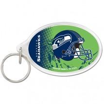 Seattle Seahawks Key Ring Acrylic Oval**Free Shipping** - $13.50