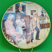 "Vintage Michael Hagel Collector Plate By Gorham, ""Family Portrait"" - $3.95"
