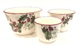 Better Homes & Gardens Heritage Collection 3 Nesting Bowls Winter Forest - $29.99