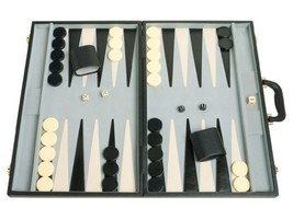 "Middleton Games 21"" Classic Tournament Backgammon Set - Black Board - $106.80"