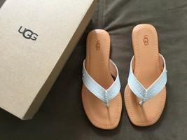 UGG Womens Tuolumne White exotic sandals flip flops Size 7 - $37.15