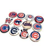 "12 CHICAGO CUBS Buttons 1"" PINS Wrigley WORLD SERIES BASEBALL CHAMPS Da Cubbies - $7.99"
