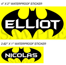 Batman Stickers, Personalized Batman Labels, Waterproof for Back to Scho... - $2.00+