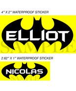 Batman Stickers, Personalized Batman Labels, Waterproof for Back to Scho... - $1.90+