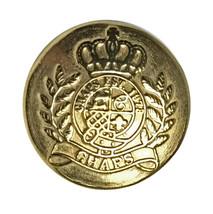 "Ralph Lauren Chaps Crown  Gold tone Metal Replacement Button .60"" - $3.71"