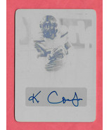 2018 Keke Coutee Leaf Ultimate Draft Rookie Auto Print Plate 1/1 - Texans - $66.49
