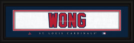 Kolten Wong St. Louis Cardinals 8x24 Player Stitched Jersey Framed Print - $39.95