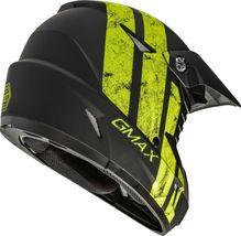 New Adult XL Gmax GM46 Dominant Matte Black/Hi-Viz Offroad Helmet DOT image 4