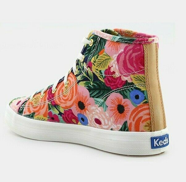 Keds X Rifle Paper Co. WF58362 Women's Kickstart Julie High Top Sneaker, 5.5 Med