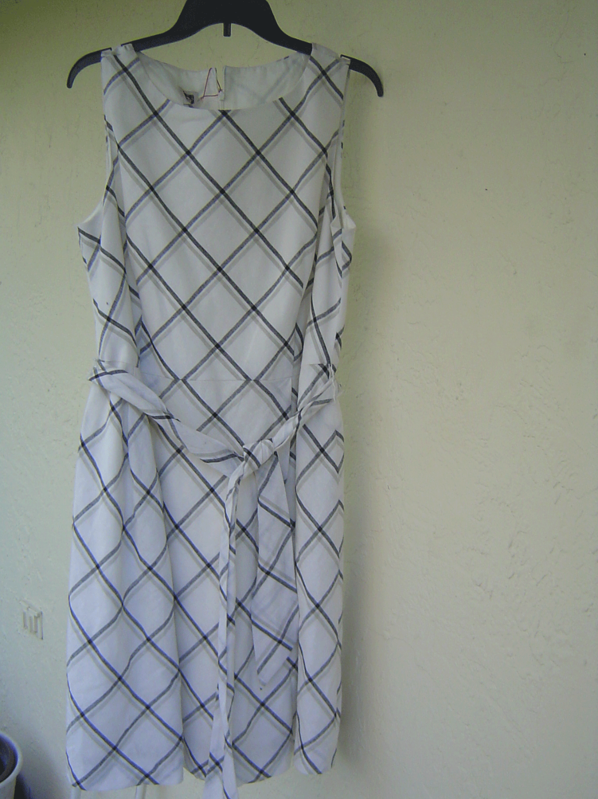 NWT ANNE KLEIN WHITE LINED FLARE BELTED DRESS SIZE 16 $119 image 2