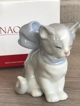 Nao by Lladro 02001348 Kitty Present Porcelain Figurine Glased New  - $90.00