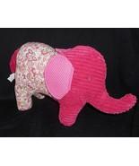 PIER 1 ONE IMPORTS PINK ELEPHANT PAISLEY PILLOW DECOR STUFFED ANIMAL PLU... - $23.38