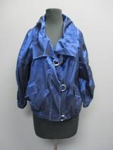 ST. JOHN Blue 3 / 4 Sleeve Scoop Neck Button Front Blazer Jacket NWT Sz ... - $148.50