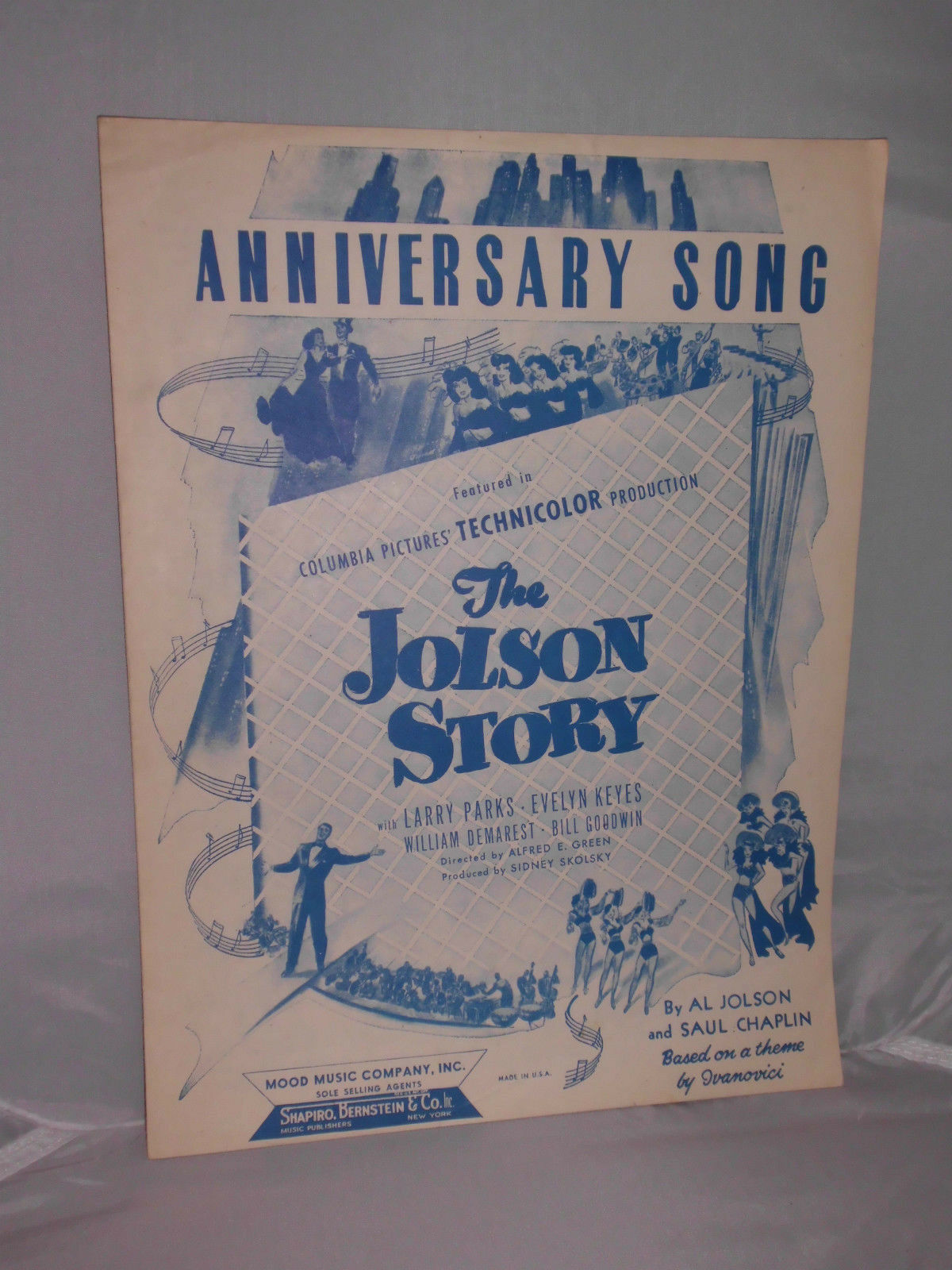 Primary image for VTG Sheet Music: Anniversary Song 1946 The Jolson Story Al Jolson & Saul Chaplin