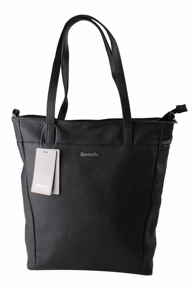 Bench Hayne Shopper BLXA0806 IN Finta Pelle Nera Riflettente Borsa Shopping
