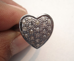 Victorian 0.63ct Rose Cut Diamond Bridal Heart Shape Lovely Ring - $372.13
