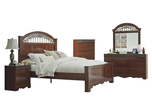 Ashley Fairbrooks Estate 5PC Queen Poster Bedroom Set W