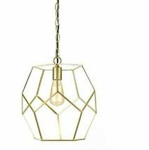 "AF lighting 9133-1P Bellini Pendant 1-60w Edison Bulb 13""wx12.25""h Gold - $39.59"