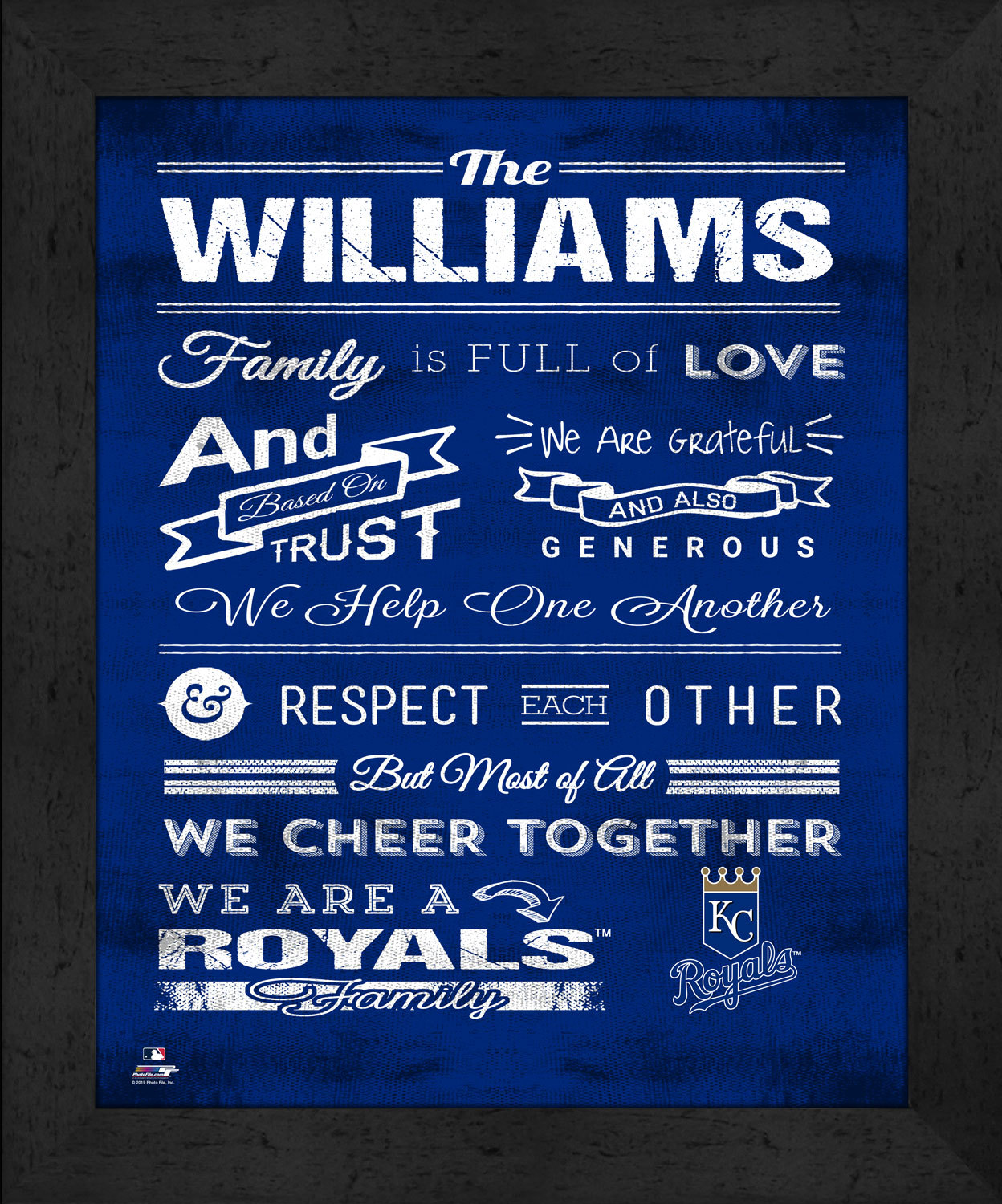 "Primary image for Kansas City Royals ""Family Cheer"" 13 x 16 Framed Print"