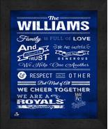 "Kansas City Royals ""Family Cheer"" 13 x 16 Framed Print - $39.95"