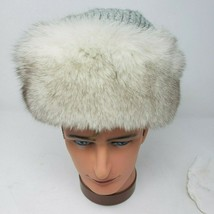 Vintage Fur Hat with Crochet Top from Fashion Furs Inc (Small) - $36.63